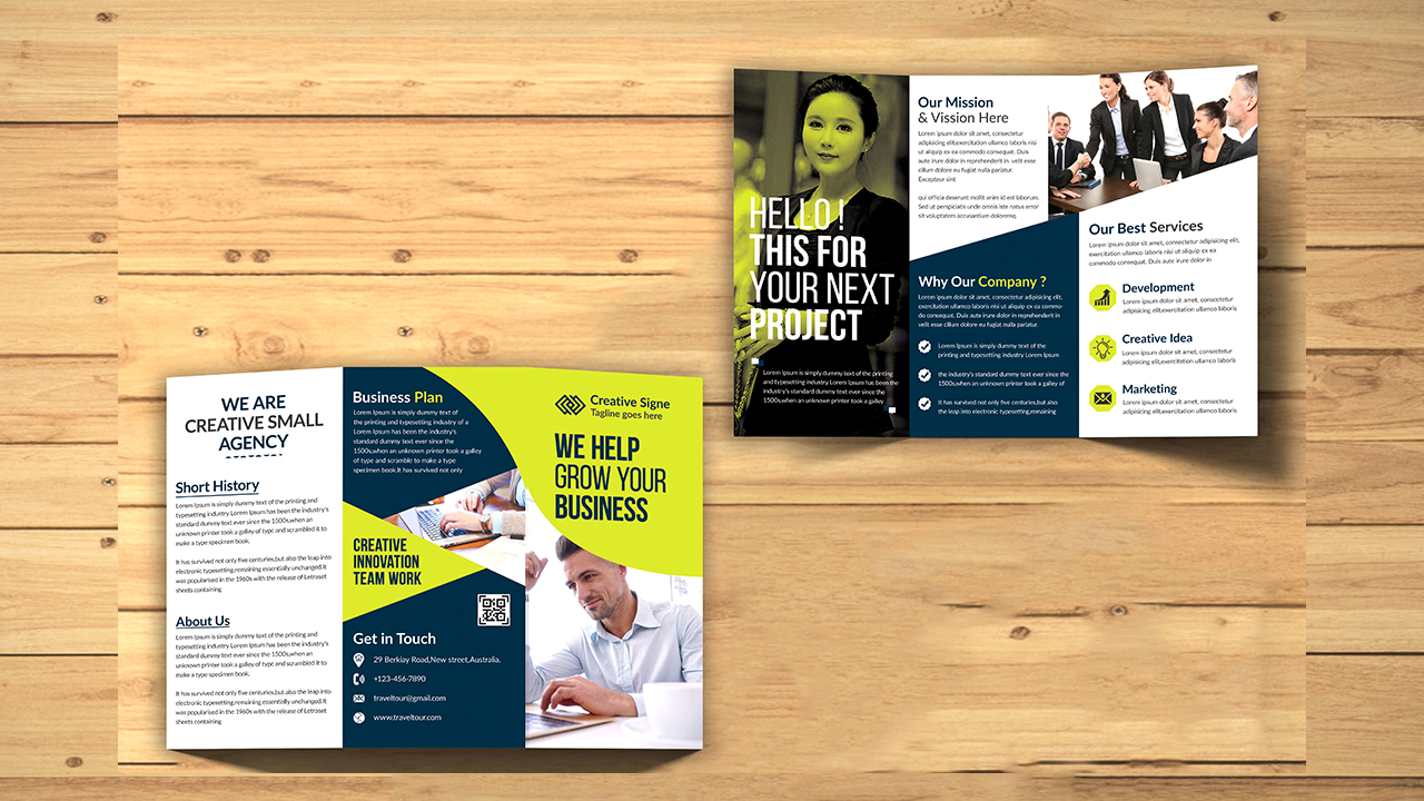 I will design professional corporate business flyer