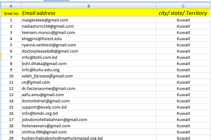 i will provide 5k niche targeted valid mail for your business in 24h