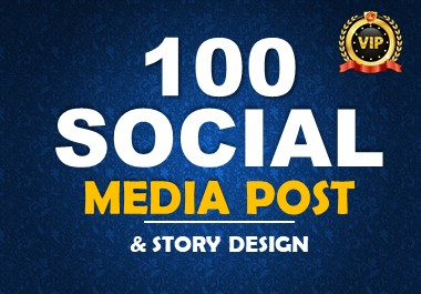 I will design 100 social media post for promote your brand
