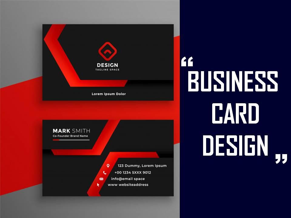 I will create minimalist business card design