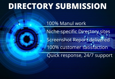 I Will Provide 100 High Quality Directory Submission Manually.