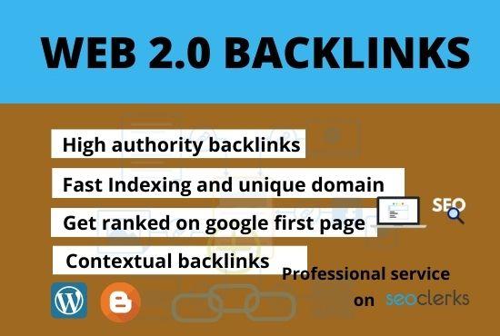 I will do 20+ permeant web 2.0 backlinks manually