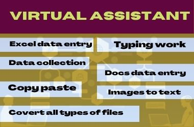 I will do excel data entry,  copy paste,  typing work within 10 hours