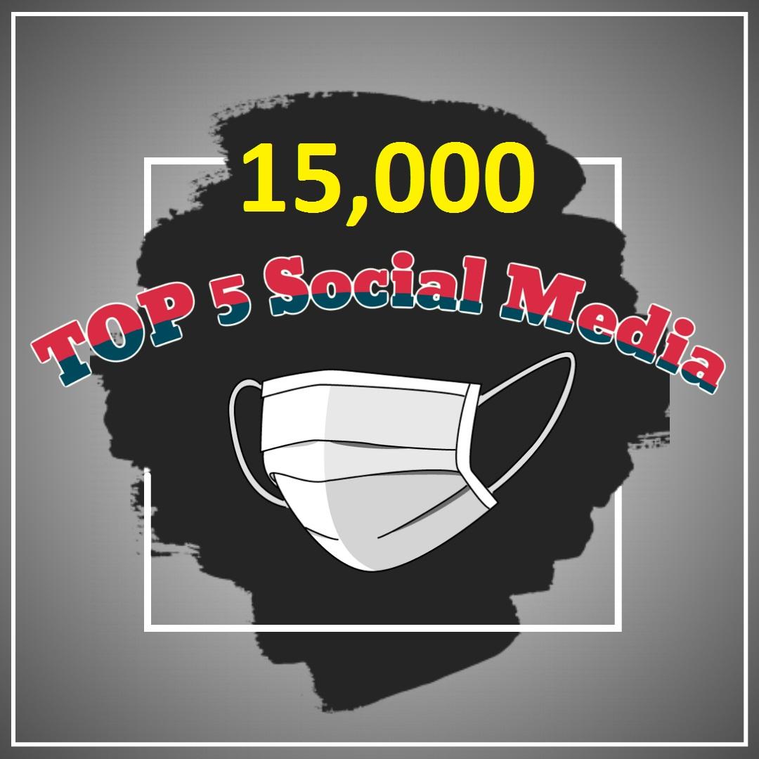 give 15,000 Social Signals 5 Social Media Website