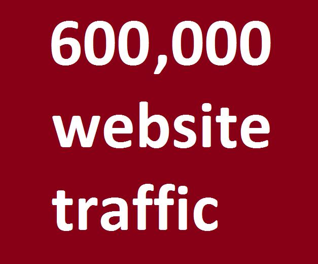 safe organic 600,000 website traffic from facebook,  instagram,  youtube,  twitter,  linkedin