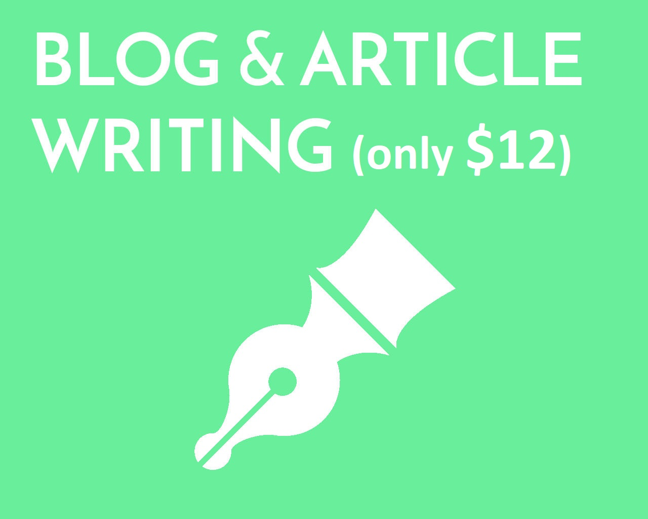 I write original blog articles for any kind of topic