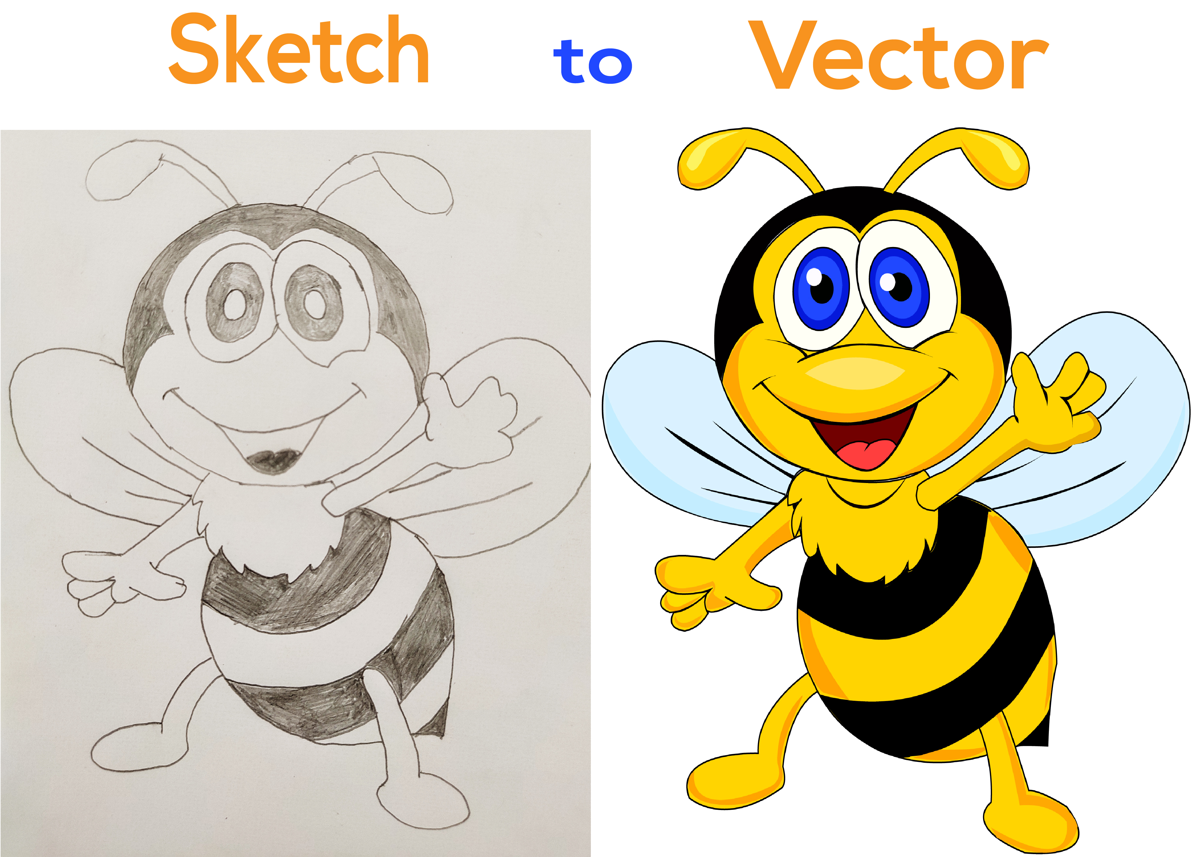 I will turn your sketch,  logo or any idea into vector