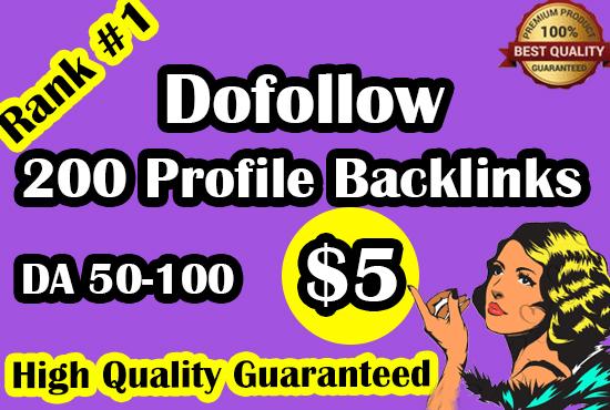 I will do profile backlinks manually