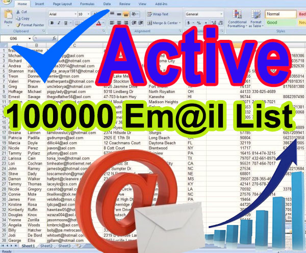 I will provide 100000 Active verifyed Email list