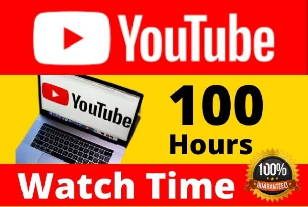 I will provide Manually 100 Hours Youtube Watch time