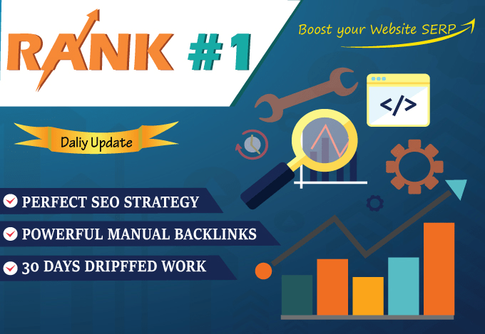 Rank Your Website 30 Days monthly SEO Backlinks package For google 1st page ranking