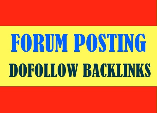 Manually create 30+ Forum Posting high domain authority