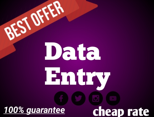 i will provide you data entry, copy paste service in cheap rate