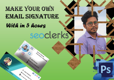 I will make you perfect clickable Email signature with HTML code