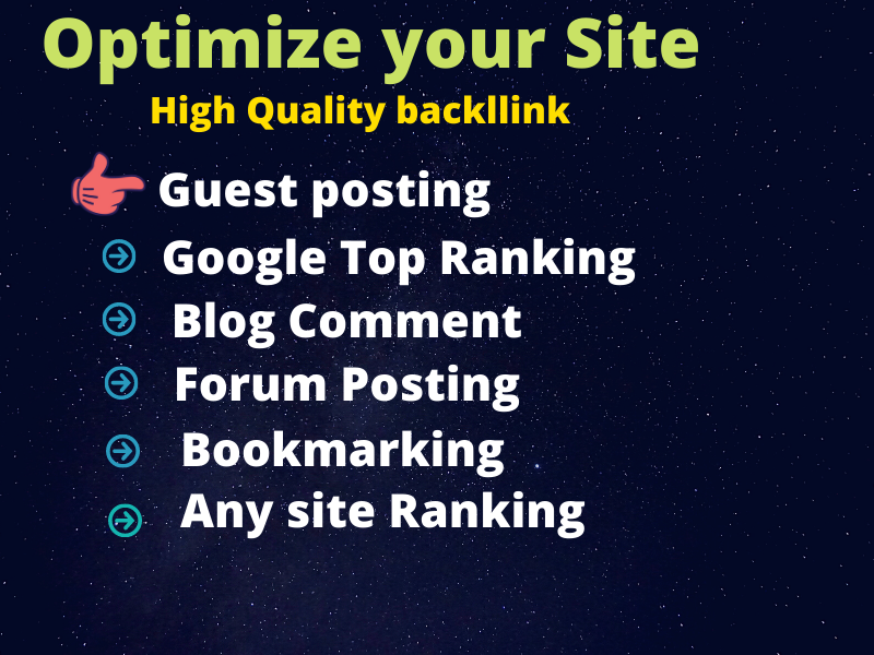 I will provide you high quality backlink for your website or link