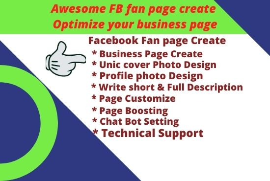 I Will make Facebook business page with fulfillment requirement