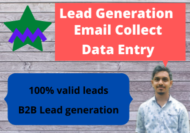 I will do targeted lead generation email list from linkedin and data entry