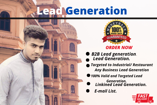 I will do B2B Targeted to Real Estate Any Business Lead Generation