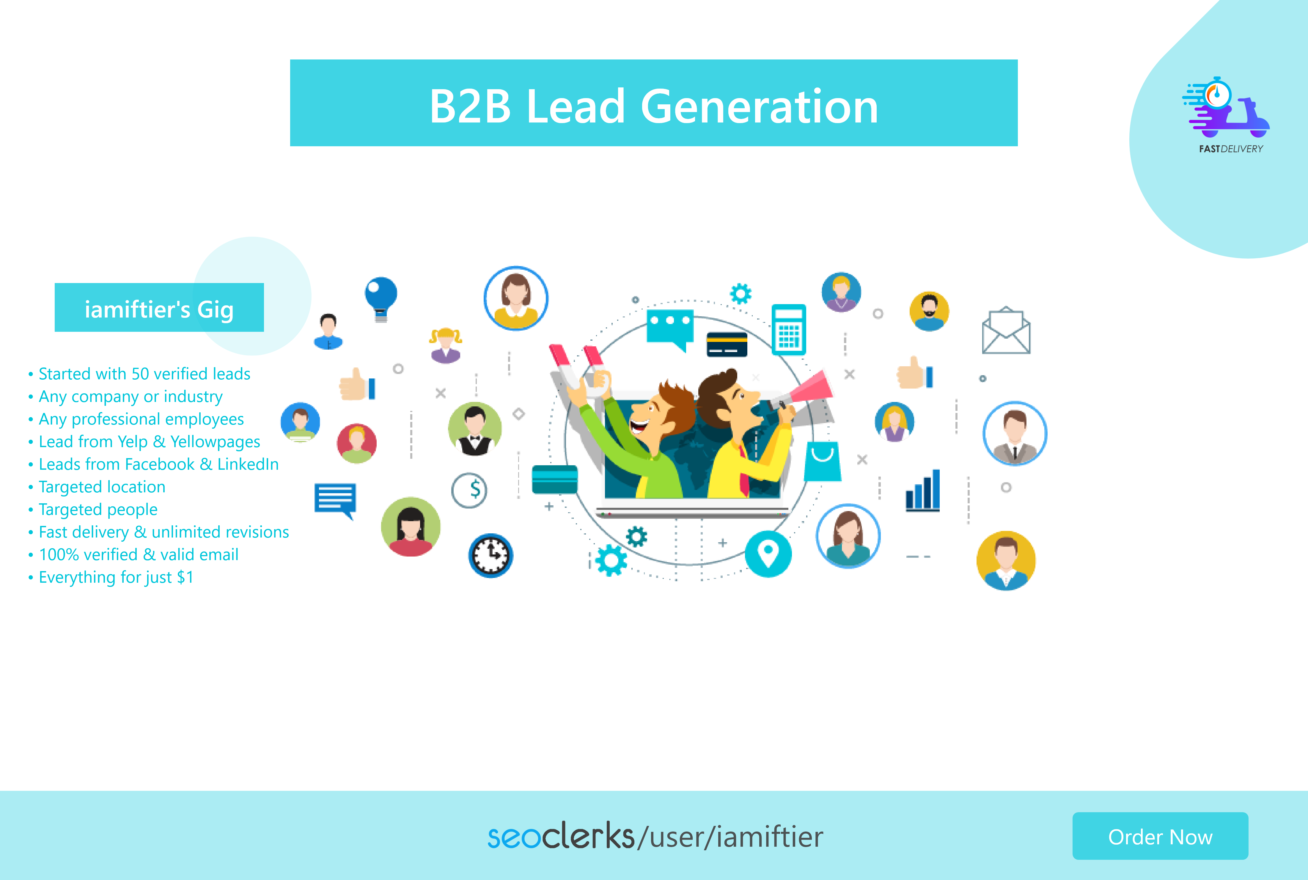 I will provide 50 targeted B2B lead generation for your business