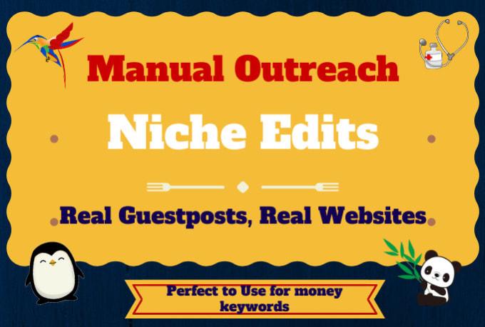 will do blogger outreach for high quality SEO backlinks link building service