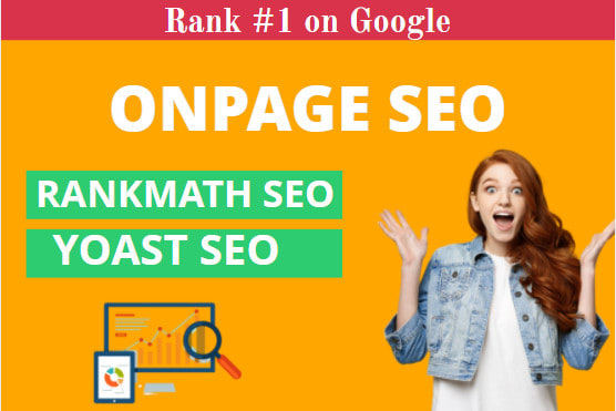 I will do on page and technical SEO of wordpress website with rankmath and yoast