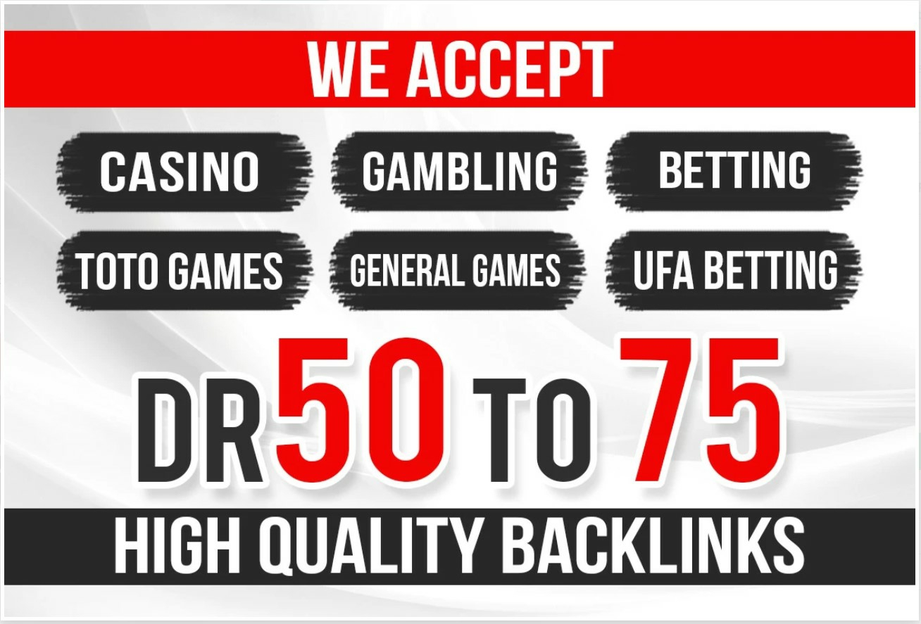 30 high DR 50+ PBN Backlinks for Poker,  Casino,  Gambling and Judi bola for