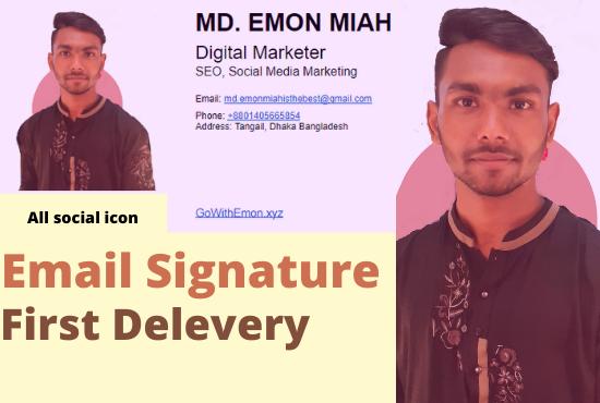 I will design a clickable Email Signature