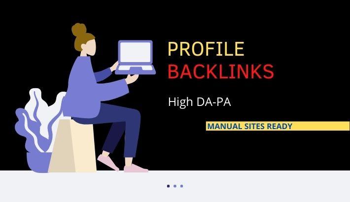 I will create 30 do follow profile backlinks for you