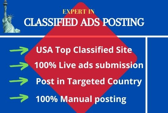 I will posting classified ads top rated usa site 50