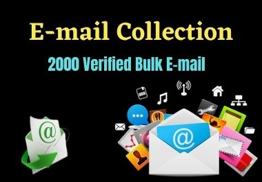 I will do 2,000 targeted Bulk email collection.