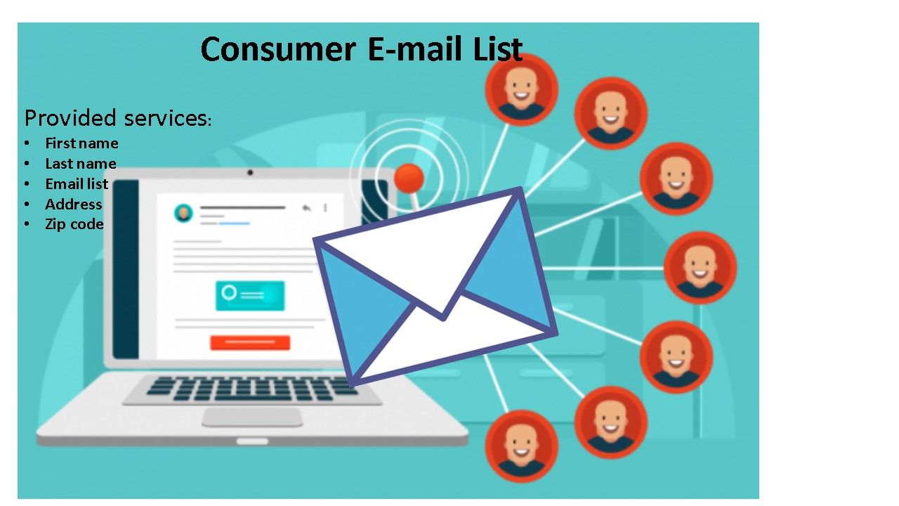 I will provide you 1k active and verified USA based consumer E-mail list.