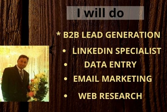 I will do B2B lead generation,Email Marketing & Web Research