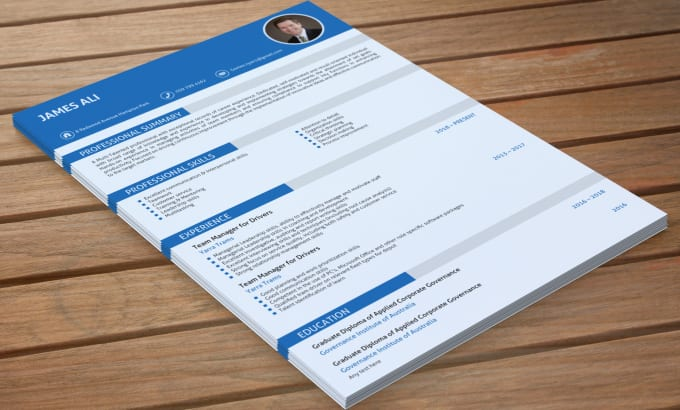 I will write and design Professional Resume and CV