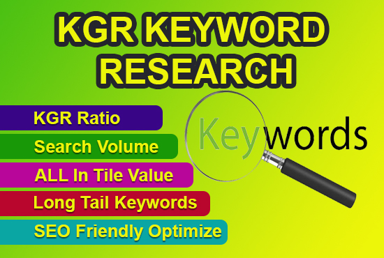 10 SEO KGR Keyword Research and Competitor analysis for Amazon