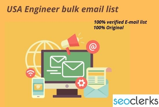 I will collect 10k USA Engineer Verified email list for email marketing