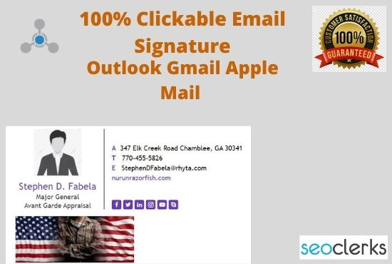 I'll design a clickable professional HTML email signature