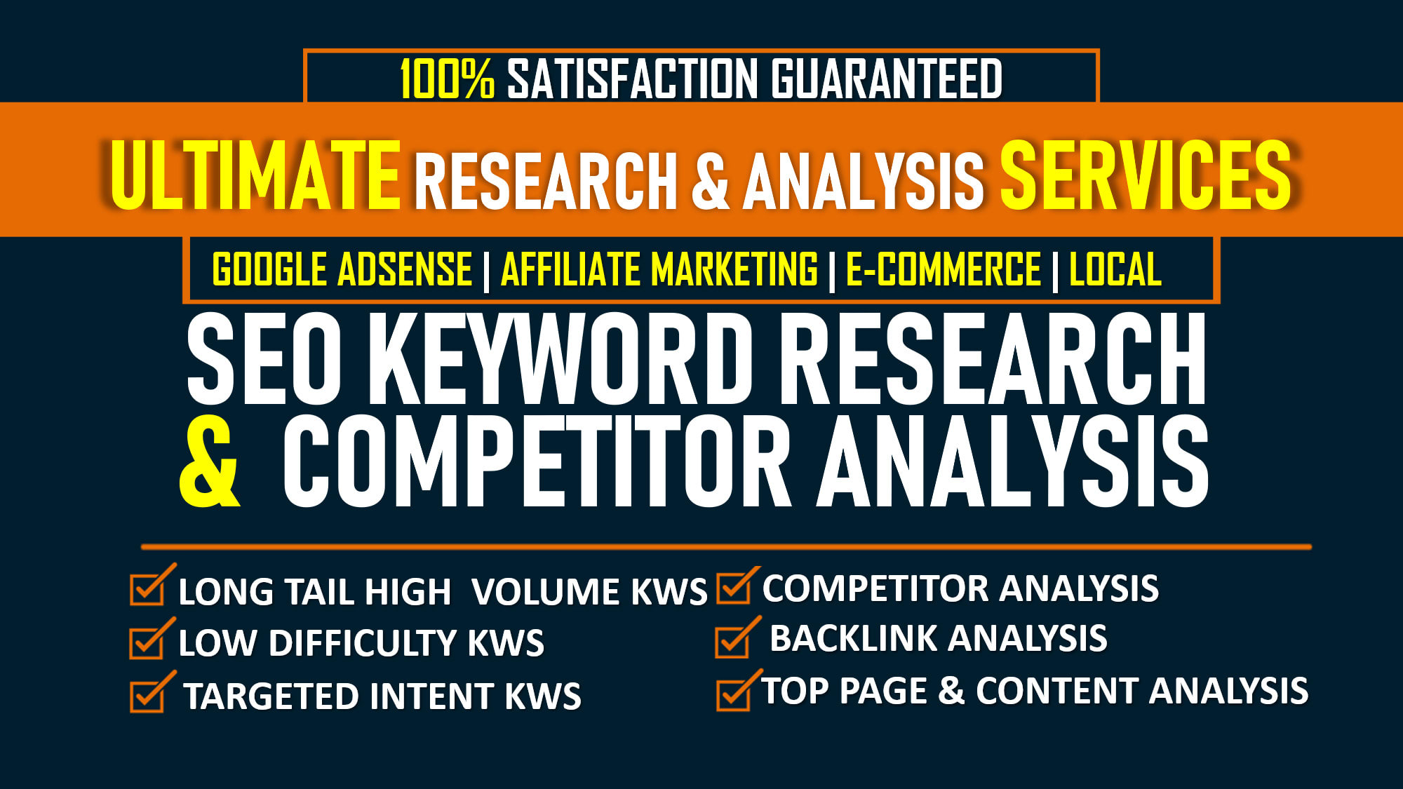 I Will Do Laser Targeted Unique SEO Keyword Research And Competitor Analysis