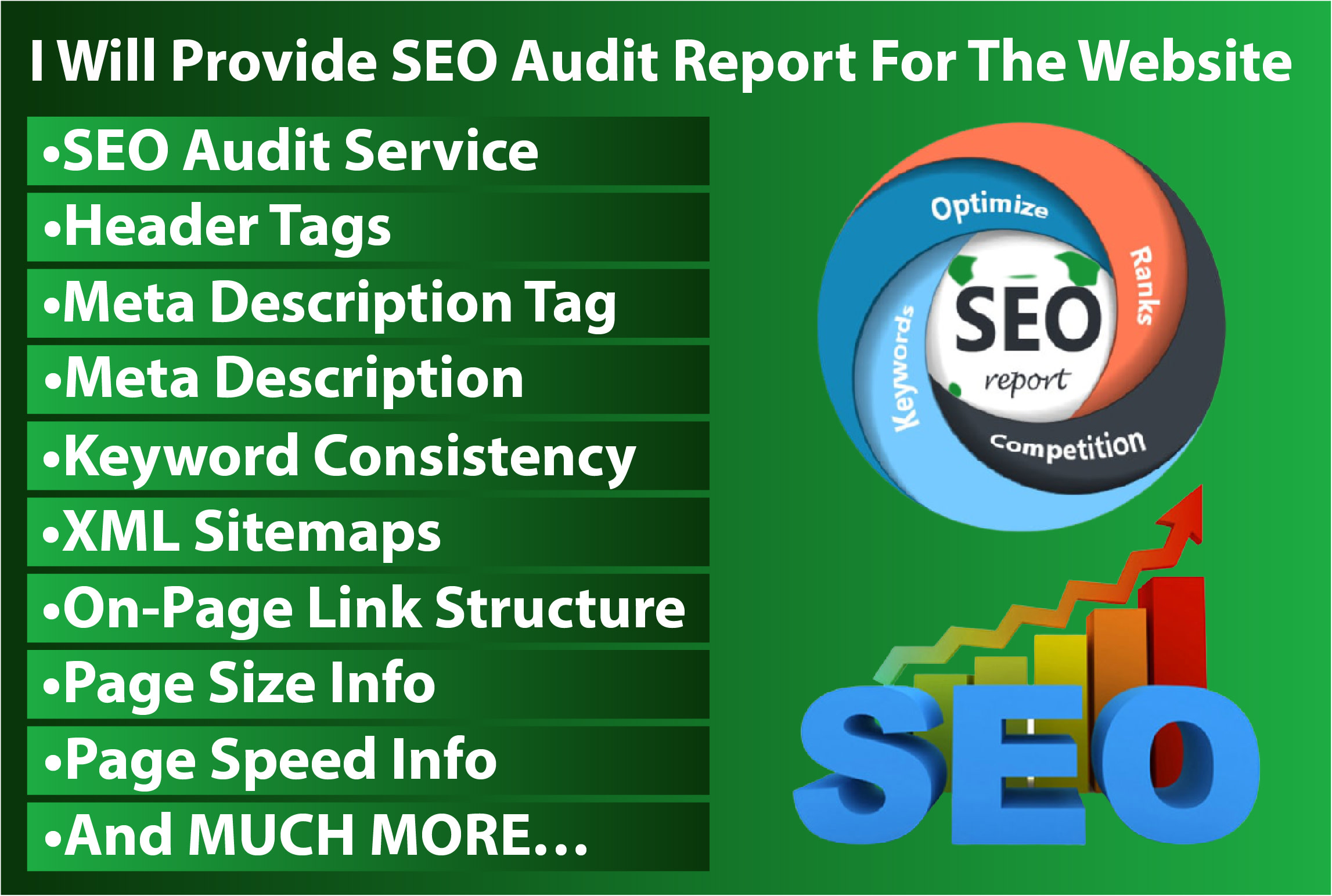 I Will Deliver A Premium SEO Report And Action Plan For Website