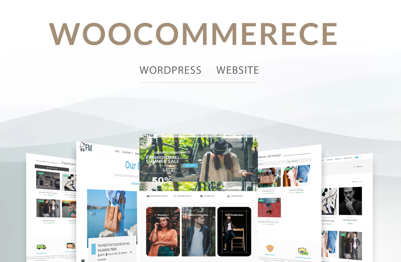 I will create ecommerce website and online store with woocommerce