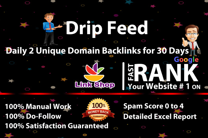 Rank on Google 1st page by exclusive monthly Dreep Feed High Quality 30 days