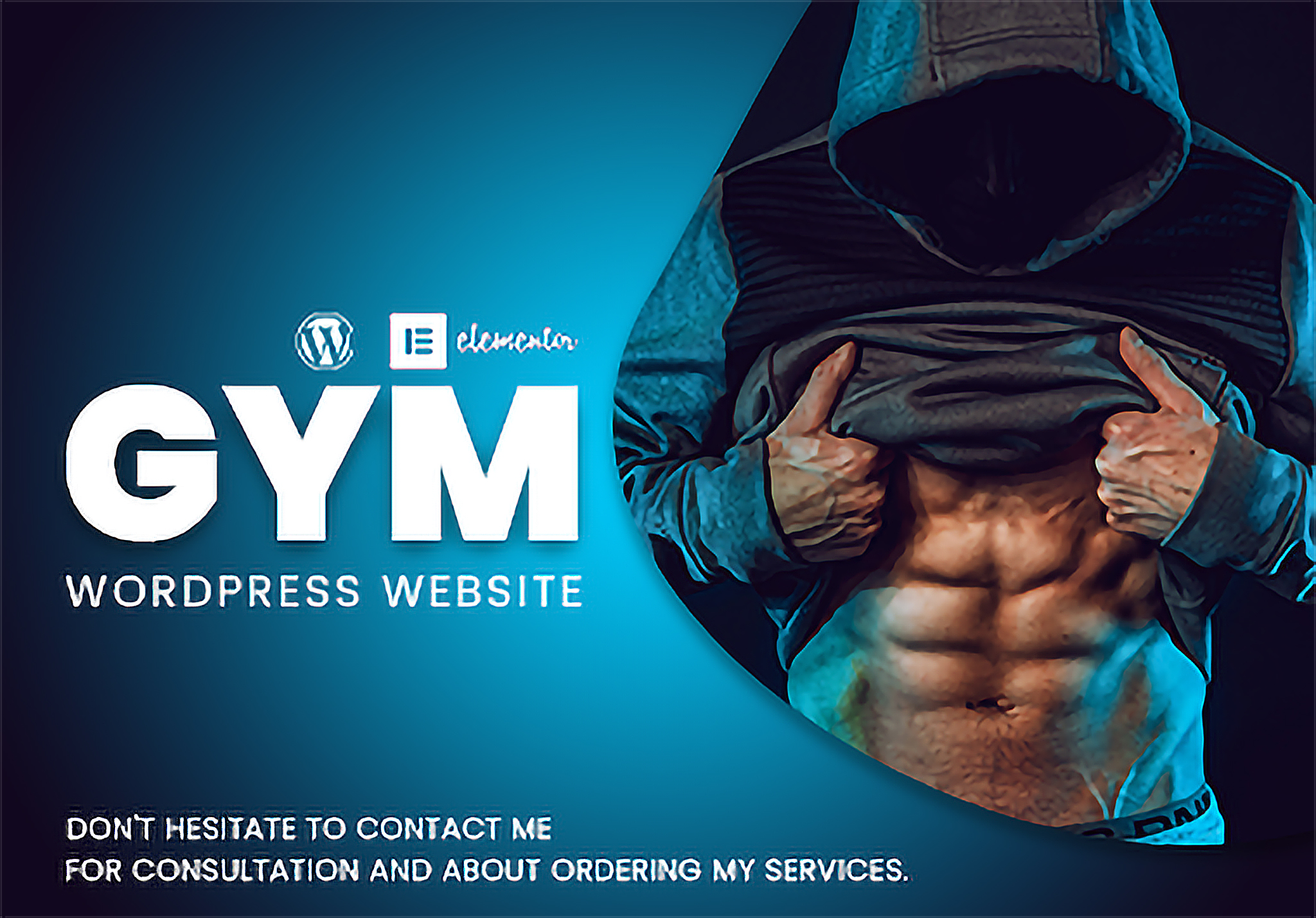 Single page GYM wordpress website with blog post & photo gallery