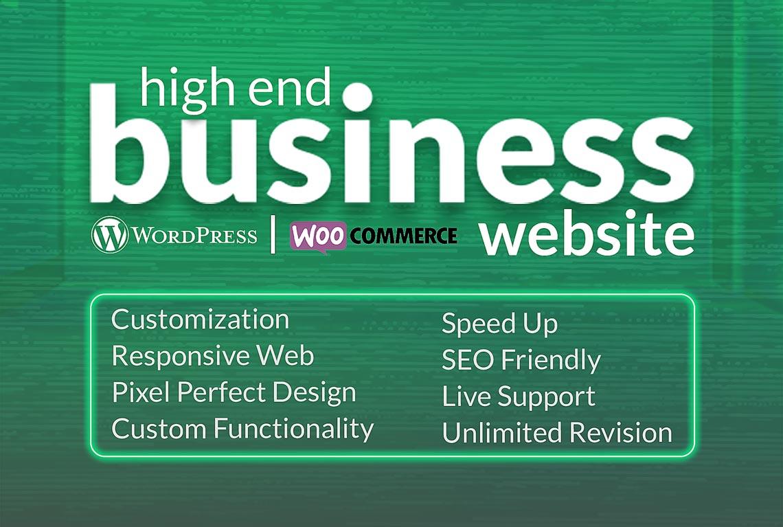 Create or Design WordPress High End Business Website