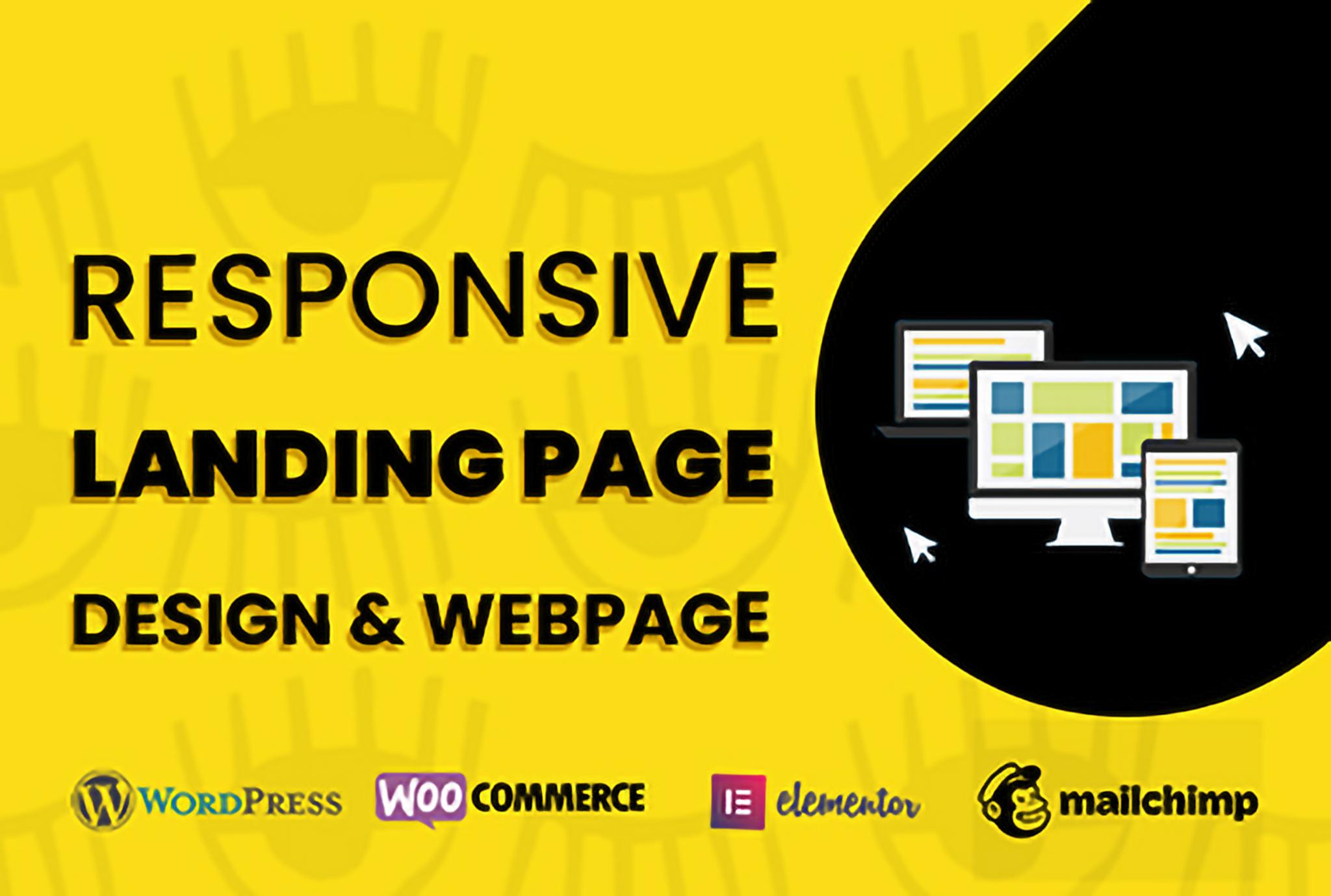 Design a modern webpage and wordpress landing page