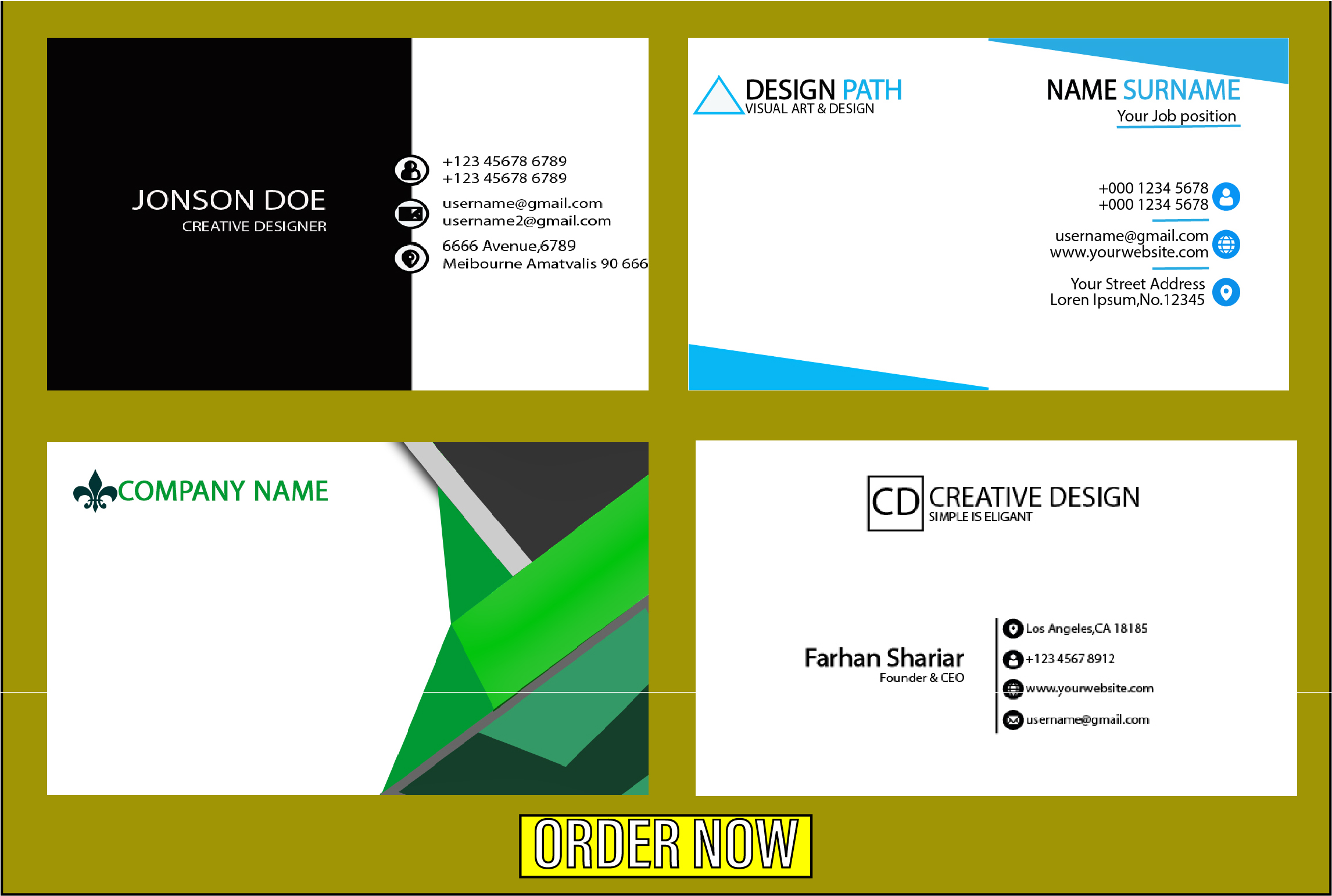 I will make professional and awsome Stylish business cards for you