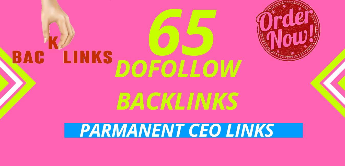 I will do 65 dofollow backlinks