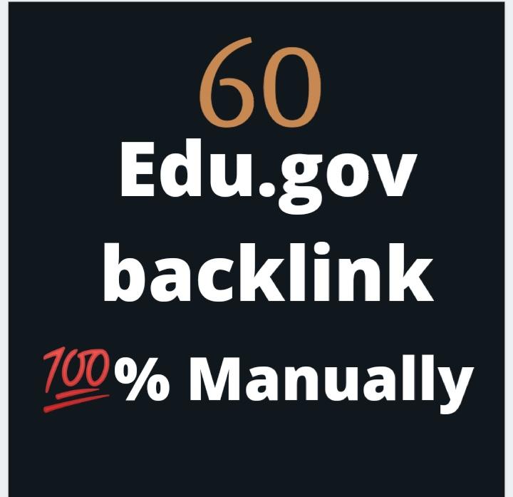 I will do Manually Create 60 Edu-Gov Seo Backlinks for Google Ranking