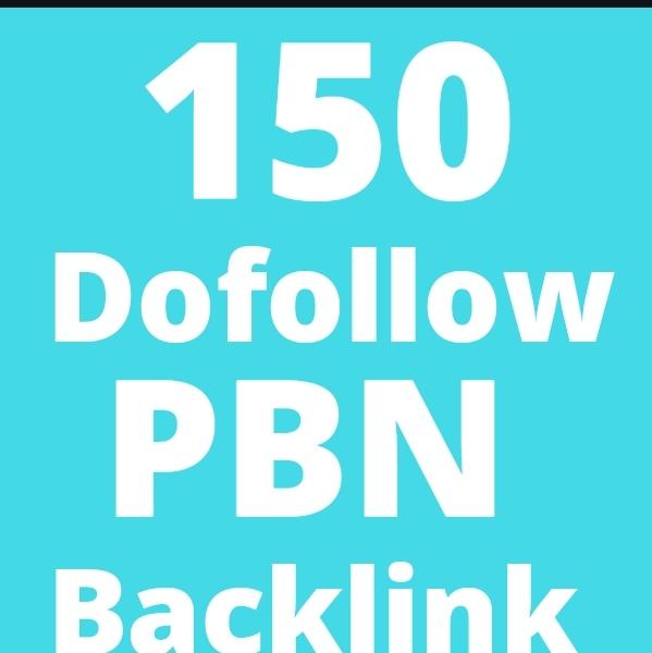 I will make 150 Manually HIGH TF CF DA PA 50+ to 100 Dofollow PBN Backlinks