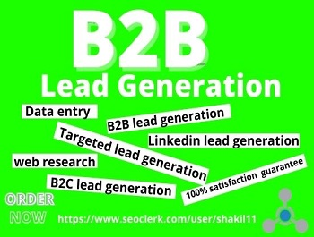 I will provide 50 b2b lead generation and targeted lead generation