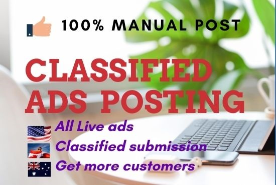 Post your ad to 50 High Authority USA classified ad posting sites