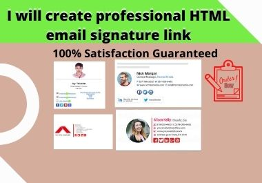 I will create professional HTML email signature link